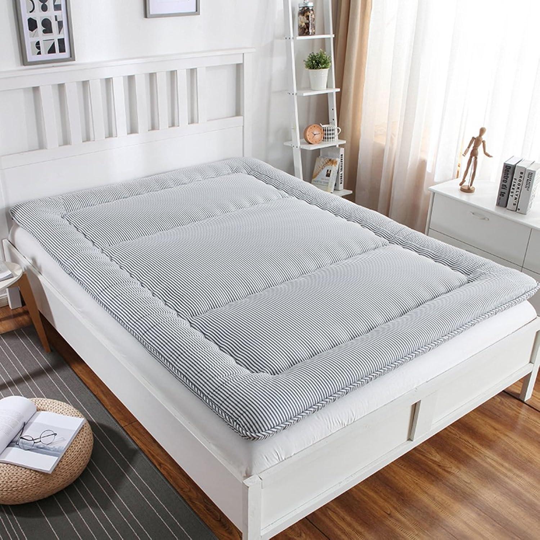 Japanese-Style Folding Tatami Mattress, Padded Wool Mattress Topper Student Dorm Warm Floor Sleeping pad-C 90x200cm(35x79inch)