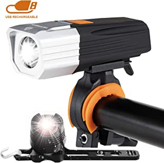 victagen USB Rechargeable Bike Light & Free Taillight,Powerful 1000 Lumens Bike Front and Rear Light,Waterproof Flashlight Bicycle Headlight, Easy to Install Fit All Bicycles MTB Kids Men Road Bike