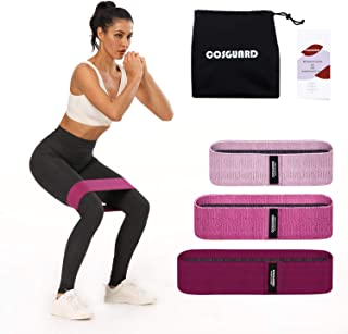 COSGUARD Fabric Resistance Bands for Legs and Butt – Hip Bands, Resistance Loop Bands, Elastic Work Out Bands, Exercise Ba...