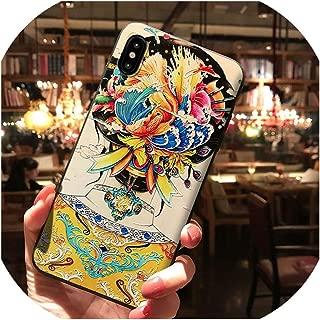 パレスガウンエンボス加工電話ケースiphone 11プロX XSマックスXR 6 6 s 7 8プラスクリエイティブフロストマット超薄型防塵カバー,For iPhone 8,L,China