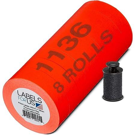 000199 GENUINE MONARCH 1136 FLUORESCENT ORANGE LABELS 8 ROLLS