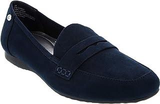 London Fog Women's Barbee Classic Slip On Slide Loafer Fashion Shoe Wide Width