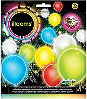 Illooms Balloon, Mixed Colour, 15 Pack