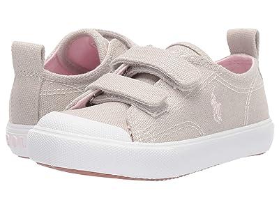 Polo Ralph Lauren Kids Kingsley EZ (Toddler) (Champagne Shimmer Canvas/Light Pink Pony Player) Girl