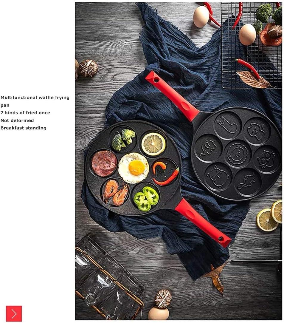JINRU Poêle À Frire Non Stick 26Cm Wok/Grill Pan Gaufres Plaque De Cuisson Petit Déjeuner Poêle Casserole Ustensiles De Cuisine Gadgets Ustensiles De Cuisine,C B