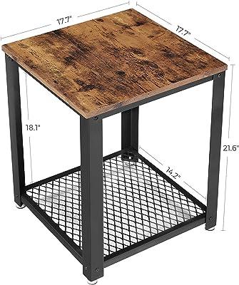 Amazon.com: Ironck - Mesa de estilo vintage para salón, con ...