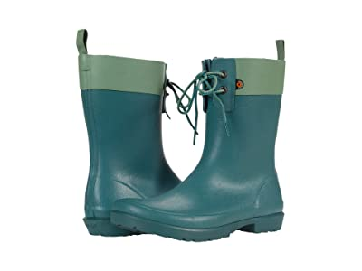 Bogs Flora 2-Eye Boot (Jade) Women