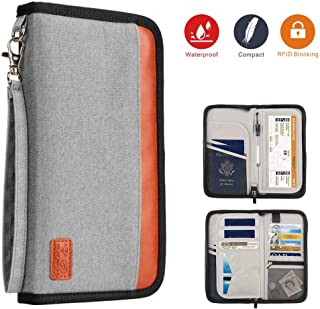 Premium Capacious Travel Wallet Family Passport Holder,RFID Blocking Waterproof Document Organizer Case for Passports, ID Cards, Credit Cards, Flight Tickets, Money and Other Travel Accessories