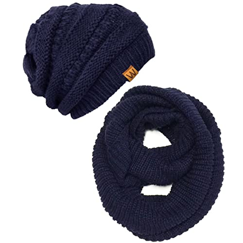 f9017118767 Wrapables Women s Plaid Print Infinity Scarf and Beanie Hat Set