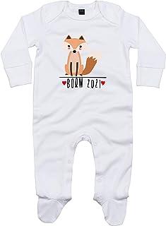 Kleckerliese Baby Schlafanzug Strampler Schlafstrampler Sprüche Jungen Mädchen Motiv Born 2021 Tiermotiv Tiere Fuchs