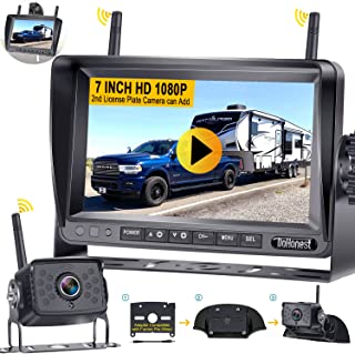 Wireless Backup Camera HD 1080P with 7 Inch DVR Monitor, DoHonest 14 Infrared Night Vision High-Speed Observation No Delay... photo