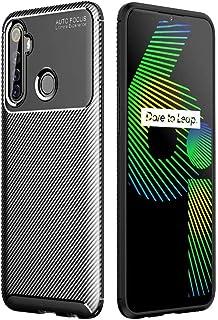 Dalchen for OPPO Realme Narzo 10A Carbon Fiber Ultra Slim Case, Silicone Soft TPU Minimalist Shockproof Protective Cover i...
