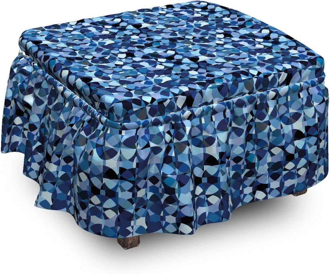 Ambesonne Abstract Ottoman Max 63% OFF Cover Intertwined Max 49% OFF 2 Round Elements