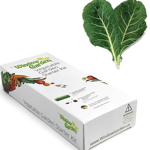 Garden Starter Kit (Collard Greens) Grow a Garden by Seed. Germinate Seeds on