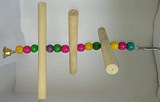 PetNest Bird Wooden Stick Swing Bird Toys for Small Parrots - Bird Toys for Budgies - Bird Toys for African Love Bird - Bi...