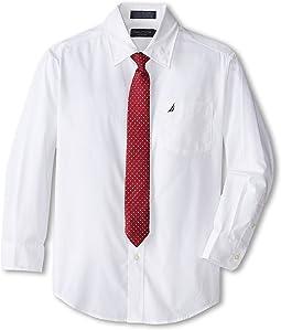 Long Sleeve Poplin Shirt/Tie Set (Big Kids)