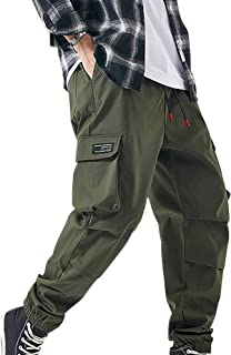 XYXIONGMAO Streetwear Hip Hop Cargo Pants Joggers for Men Youth Loose Casual Pants Sports Multi-Pocket Overalls
