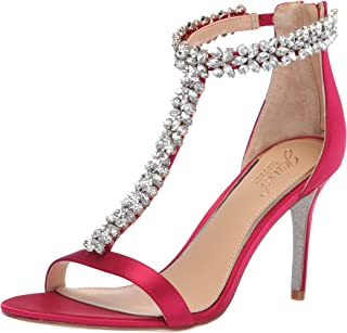 Jewel Badgley Mischka Women's JANNA Sandal, pink, M060 M US