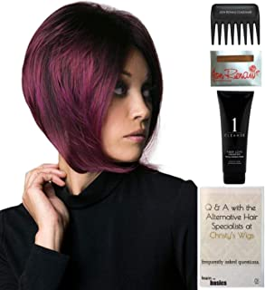 Bundle - 5 Items: Aria Wig by Rene of Paris, Christy's Wigs Q & A Booklet, 2oz Travel Size Wig Shampoo, Wig Cap & Wide Tooth Comb - Color: MARBLE BROWN- LR