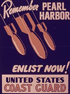 VintPrint World War II Poster - Remember Pearl Harbor. Enlist Now. United States Coast Guard. - 515294 8.5
