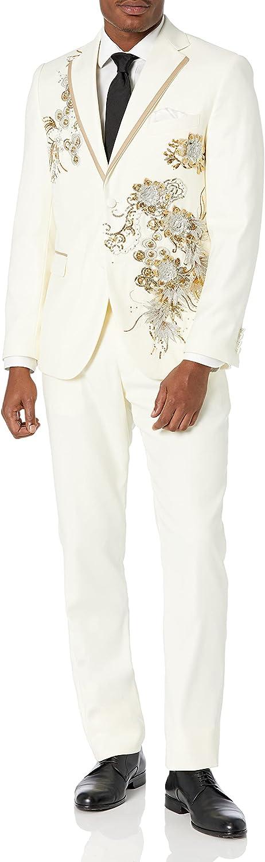 Blu Martini 2 Pc. Applique Men's Suit