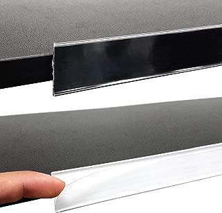 Adhesive Ticket Channel, Gondola & Wood Shelf Stick on Data Label Strip UPC Holder, White, 20 Pack