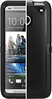 OtterBox Defender Case for HTC One M7 – Retail Packaging – Black..
