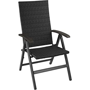 TecTake Lot de aluminium chaises de jardin pliante avec