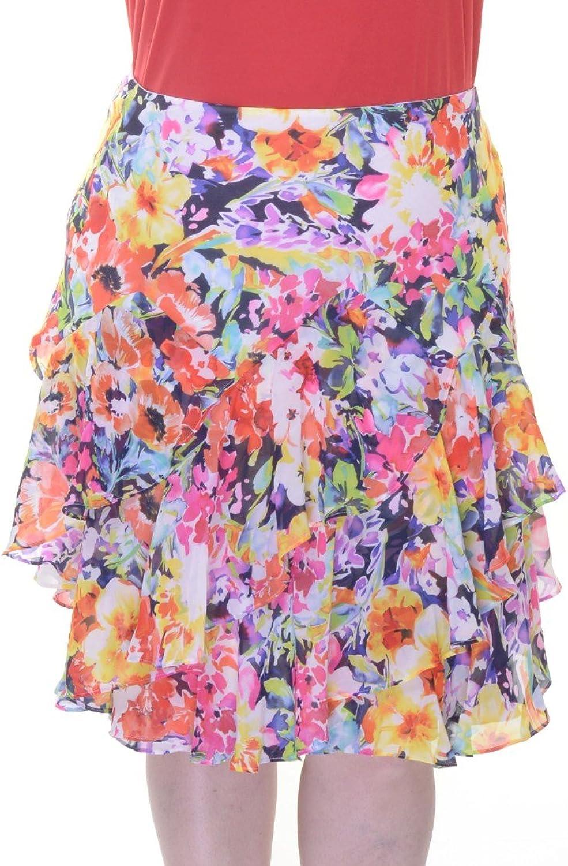 Lauren Ralph Lauren Women's FloralPrint Ruffled Skirt