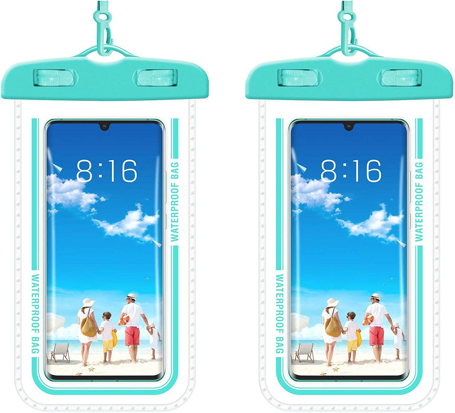 BROQLI Waterproof Case IPX8 Cell Phone Dry Bag Compatible for iPhone 12 Pro Max 11 Pro Galaxy S10 S9 Google Pixel up to 7.2