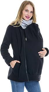 d7e5ac5a2e4f5 Smallshow Women's Fleece Zip Up Maternity Baby Carrier Hoodie Sweatshirt  Jacket