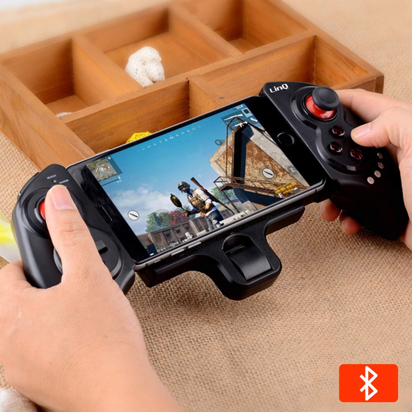LinQ - Mando inalámbrico extensible para videojuegos con Bluetooth, conexión con cable, autonomía de 10 horas, brazo