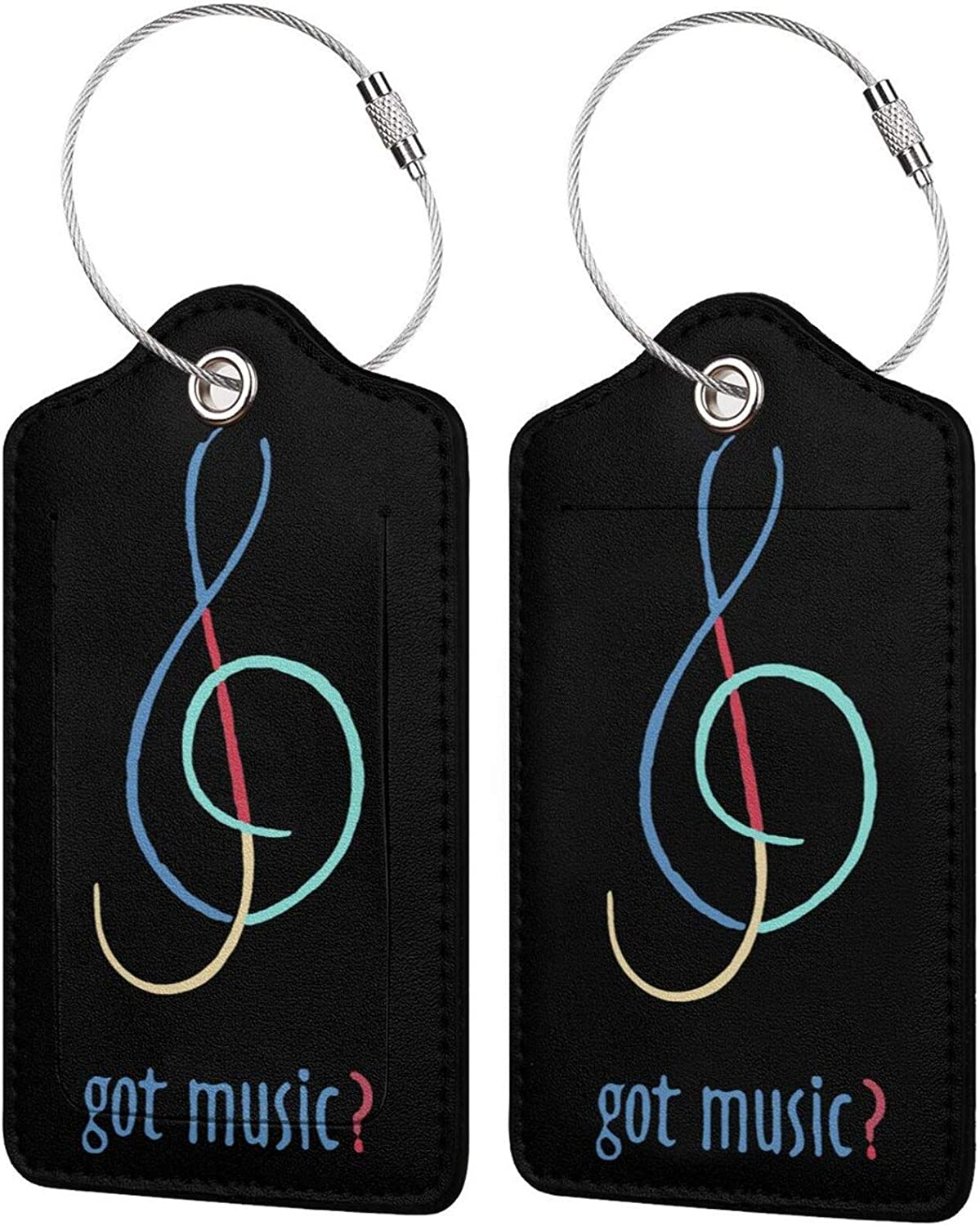Got Music PU Leather El Paso Mall sale Travel Luggage tag Labels Rectangle Name ID