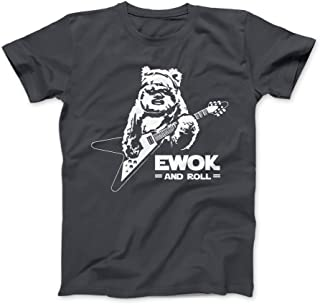 Bees Knees Tees Ewok and Roll Guitar Funny T-Shirt