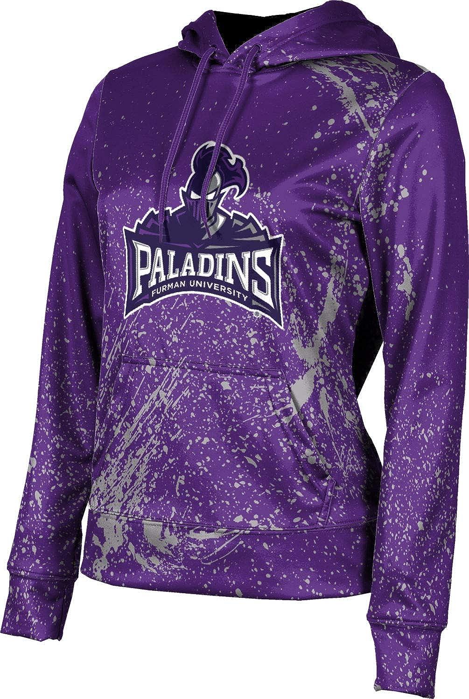 Furman University Girls' Pullover Hoodie, School Spirit Sweatshirt (Splatter)