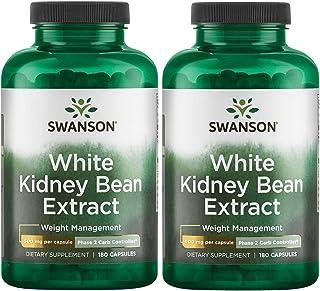 Swanson White Kidney Bean Extract 500 mg 180 Caps 2 Pack