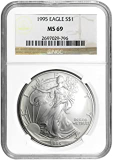 1995 American Silver Eagle ASE $1 MS-69 NGC