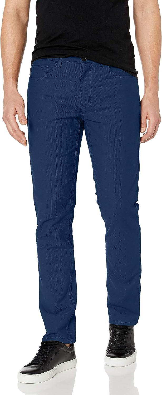 Perry Ellis Men's Slim Fit 5-Pocket Stretch Dobby Pant