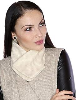 prettystern Donna 100% cachemire lana sciarpa corta Fazzoletti da collo Colletto ricamato in Cashmere