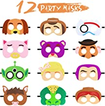 12 Pcs Toy 4th Story Party Masks Birthday Party Supplies Toy 4th Masks Adventure Party Favors Dress Up Costume Mask Include Buzz Woody Forky Bo Peep Lightyear Slinky Dog Jessie for Kids Boys Girls