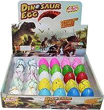 Wenosda Huevos de Dinosaurio Toy Novedad eclosión Huevo de Dinosaurio para niños Paquete de Gran tamaño de 30 Piezas, Mezclar Colores