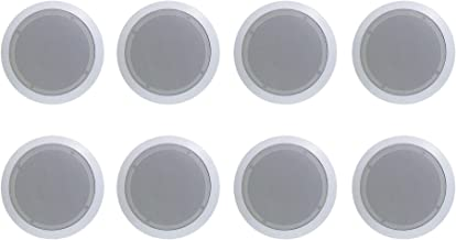 8) New PYLE PRO PDIC61RD 6.5'' 200W 2-Way In-Ceiling/Wall Speaker System White