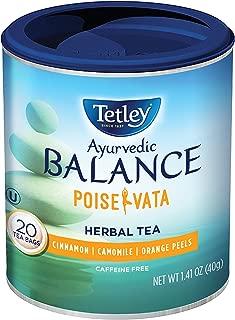 Tetley Ayurvedic Balance Poise-Vata Caffeine Free Herbal Tea with Cinnamon, Camomile and Orange Peels, 20 Count (Pack of 6)