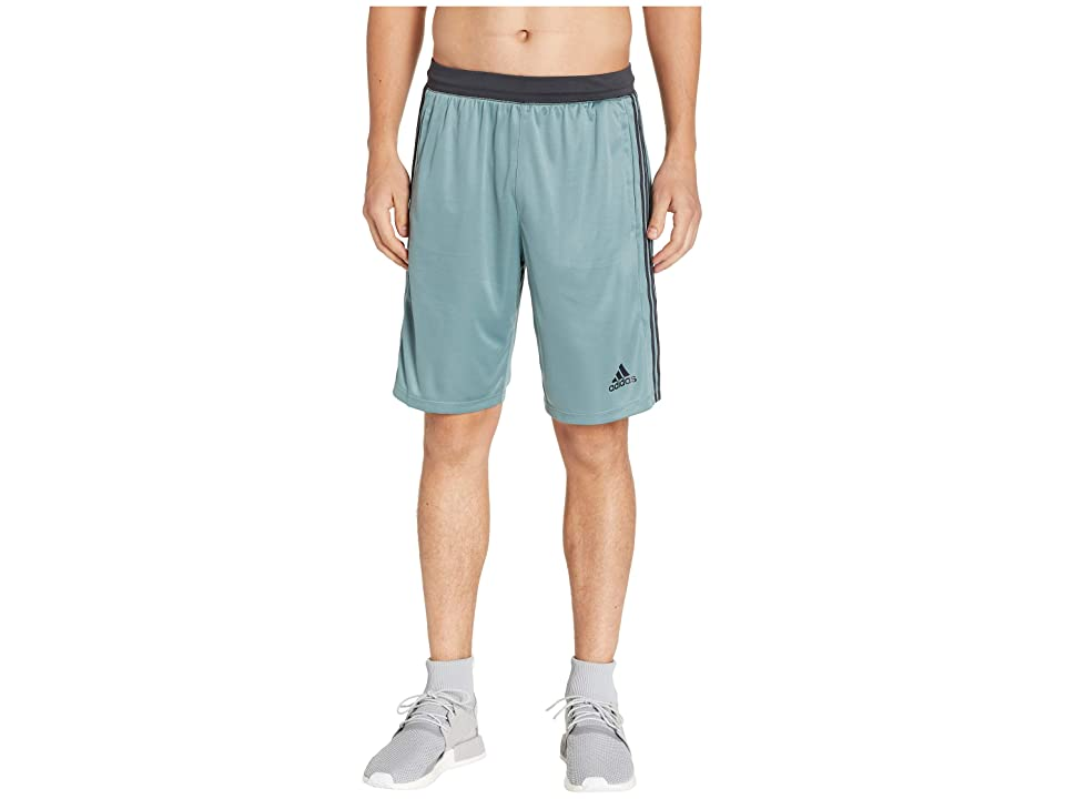 adidas Designed-2-Move 3-Stripes Shorts (Raw Green/Carbon) Men