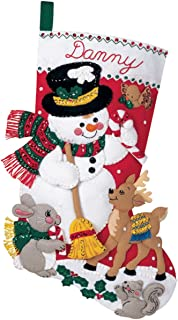 Bucilla  Snowman And Friends Felt Applique Kit