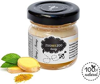 Miel pura con jengibre - miel orgánica de calidad - tan saludable como la miel de Manuka de Nueva Zelanda - miel de flor real (50g)