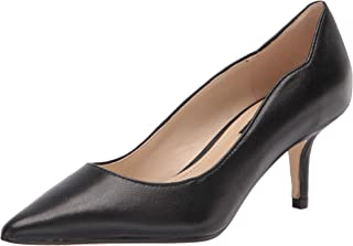 Nine West Women's Abaline Pump, Black Leather, 8