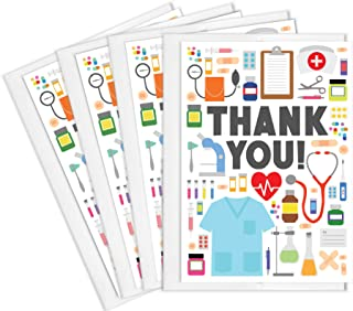 Tiny Expressions 4 Doctor, Medical, Nurse Appreciation Thank You Cards with Envelopes