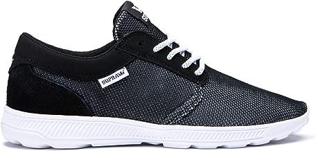 Supra Footwear - Hammer Run Sneakers, Black Emboss-White, 10 M US Women/8.5 M US Men