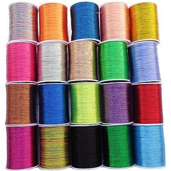 Hilo metálico para bordar – 8 piezas de hilo brillante – hilo de ...